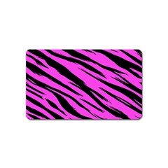 Pink Tiger Magnet (name Card) by ArtistRoseanneJones
