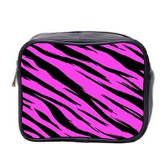 Pink Tiger Mini Travel Toiletry Bag (two Sides) by ArtistRoseanneJones