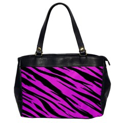 Pink Tiger Oversize Office Handbag (one Side) by ArtistRoseanneJones