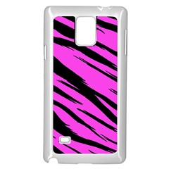 Pink Tiger Samsung Galaxy Note 4 Case (White) by ArtistRoseanneJones