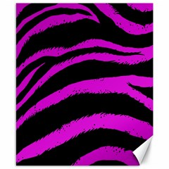 Pink Zebra Canvas 8  X 10  (unframed) by ArtistRoseanneJones