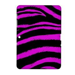 Pink Zebra Samsung Galaxy Tab 2 (10 1 ) P5100 Hardshell Case  by ArtistRoseanneJones