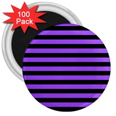 Purple Stripes 3  Button Magnet (100 Pack) by ArtistRoseanneJones