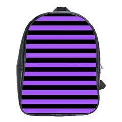 Purple Stripes School Bag (large) by ArtistRoseanneJones