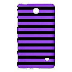 Purple Stripes Samsung Galaxy Tab 4 (8 ) Hardshell Case  by ArtistRoseanneJones
