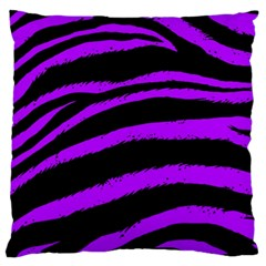 Purple Zebra Large Cushion Case (single Sided)  by ArtistRoseanneJones