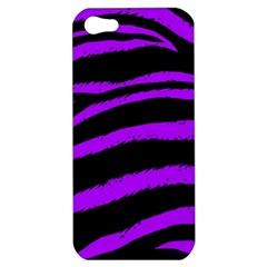 Purple Zebra Apple Iphone 5 Hardshell Case by ArtistRoseanneJones