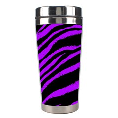 Purple Zebra Stainless Steel Travel Tumbler by ArtistRoseanneJones
