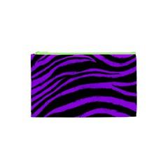 Purple Zebra Cosmetic Bag (xs) by ArtistRoseanneJones