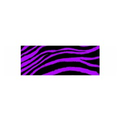 Purple Zebra Satin Scarf (oblong) by ArtistRoseanneJones