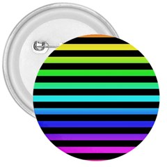 Rainbow Stripes 3  Button by ArtistRoseanneJones
