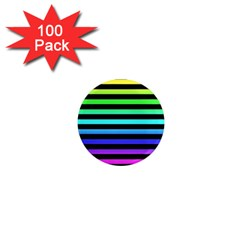 Rainbow Stripes 1  Mini Button Magnet (100 Pack) by ArtistRoseanneJones