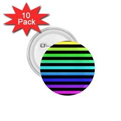Rainbow Stripes 1 75  Button (10 Pack) by ArtistRoseanneJones