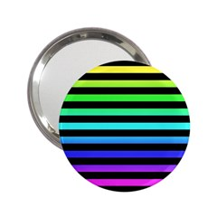 Rainbow Stripes Handbag Mirror (2 25 ) by ArtistRoseanneJones