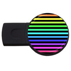 Rainbow Stripes 2gb Usb Flash Drive (round) by ArtistRoseanneJones