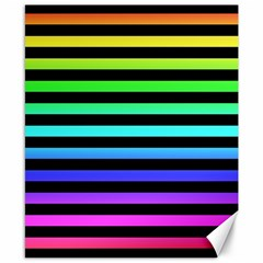 Rainbow Stripes Canvas 8  X 10  (unframed) by ArtistRoseanneJones