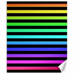 Rainbow Stripes Canvas 20  X 24  (unframed) by ArtistRoseanneJones