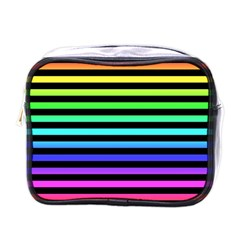 Rainbow Stripes Mini Travel Toiletry Bag (one Side) by ArtistRoseanneJones