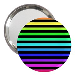 Rainbow Stripes 3  Handbag Mirror by ArtistRoseanneJones