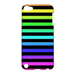 Rainbow Stripes Apple Ipod Touch 5 Hardshell Case by ArtistRoseanneJones