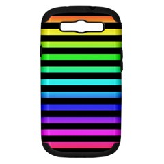 Rainbow Stripes Samsung Galaxy S Iii Hardshell Case (pc+silicone) by ArtistRoseanneJones