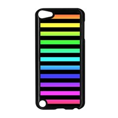 Rainbow Stripes Apple Ipod Touch 5 Case (black) by ArtistRoseanneJones