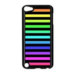 Rainbow Stripes Apple iPod Touch 5 Case (Black) Front