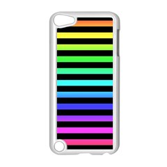 Rainbow Stripes Apple Ipod Touch 5 Case (white) by ArtistRoseanneJones