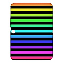 Rainbow Stripes Samsung Galaxy Tab 3 (10.1 ) P5200 Hardshell Case  by ArtistRoseanneJones