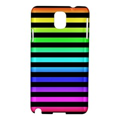 Rainbow Stripes Samsung Galaxy Note 3 N9005 Hardshell Case by ArtistRoseanneJones