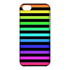 Rainbow Stripes Apple Iphone 5c Hardshell Case by ArtistRoseanneJones