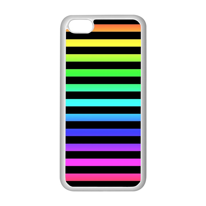 Rainbow Stripes Apple iPhone 5C Seamless Case (White)