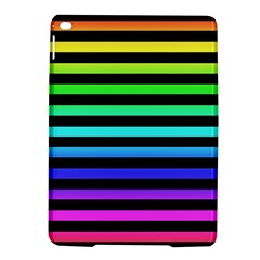 Rainbow Stripes Apple Ipad Air 2 Hardshell Case by ArtistRoseanneJones