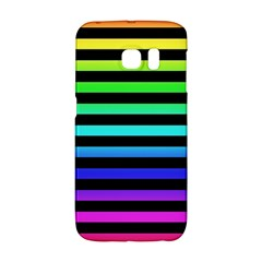 Rainbow Stripes Samsung Galaxy S6 Edge Hardshell Case by ArtistRoseanneJones