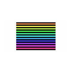 Rainbow Stripes Satin Wrap by ArtistRoseanneJones