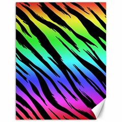 Rainbow Tiger Canvas 12  X 16  (unframed) by ArtistRoseanneJones