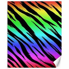 Rainbow Tiger Canvas 11  X 14  (unframed) by ArtistRoseanneJones