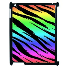 Rainbow Tiger Apple Ipad 2 Case (black) by ArtistRoseanneJones