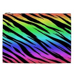 Rainbow Tiger Cosmetic Bag (xxl) by ArtistRoseanneJones