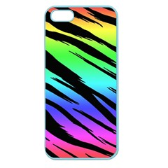 Rainbow Tiger Apple Seamless Iphone 5 Case (color) by ArtistRoseanneJones