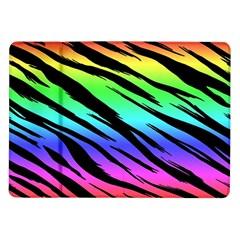 Rainbow Tiger Samsung Galaxy Tab 10 1  P7500 Flip Case by ArtistRoseanneJones