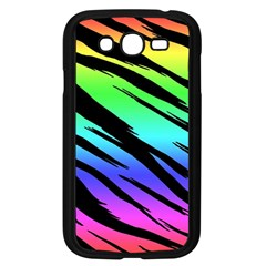 Rainbow Tiger Samsung Galaxy Grand DUOS I9082 Case (Black) by ArtistRoseanneJones