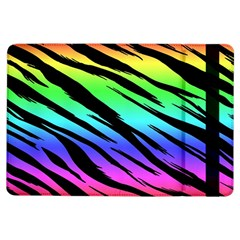 Rainbow Tiger Apple Ipad Air Flip Case by ArtistRoseanneJones