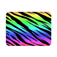 Rainbow Tiger Double Sided Flano Blanket (mini) by ArtistRoseanneJones