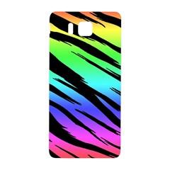 Rainbow Tiger Samsung Galaxy Alpha Hardshell Back Case by ArtistRoseanneJones