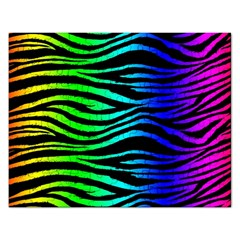 Rainbow Zebra Jigsaw Puzzle (rectangle) by ArtistRoseanneJones