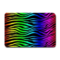 Rainbow Zebra Small Door Mat by ArtistRoseanneJones
