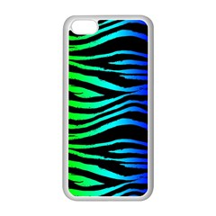 Rainbow Zebra Apple Iphone 5c Seamless Case (white) by ArtistRoseanneJones