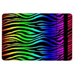 Rainbow Zebra Apple Ipad Air 2 Flip Case by ArtistRoseanneJones