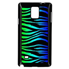 Rainbow Zebra Samsung Galaxy Note 4 Case (black) by ArtistRoseanneJones